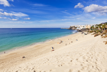 The beach at Morro Jable, Fuerteventura Stock Photo