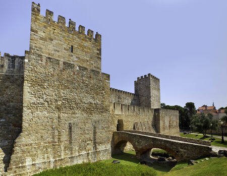 Entrance to the castle of Sao Jorge at Lisbon