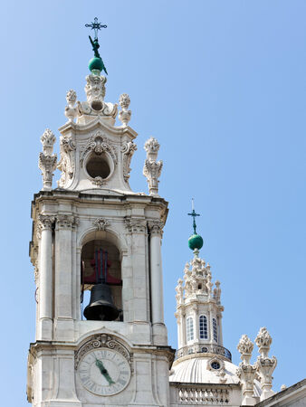 Detail of bell tower and dome of Estrela Basilica at Lisbon photo