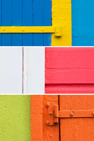 house walls: Three backgrounds caribbean house walls painted with vibrant colors