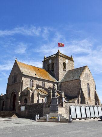 17th century: 17th century church Saint Nicolas at Barfleur, Cotentin peninsula, Basse-Normandie, France  Stock Photo