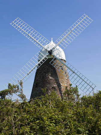 west sussex: Historic windmill at Halnaker, West Sussex, UK Stock Photo