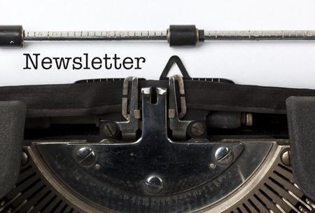 Parole lettre écrite avec la machine à écrire millésime Banque d'images - 29672113