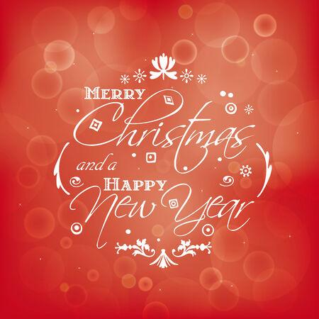 seasons greetings: illustration with vintage typographic seasons greetings. Illustration