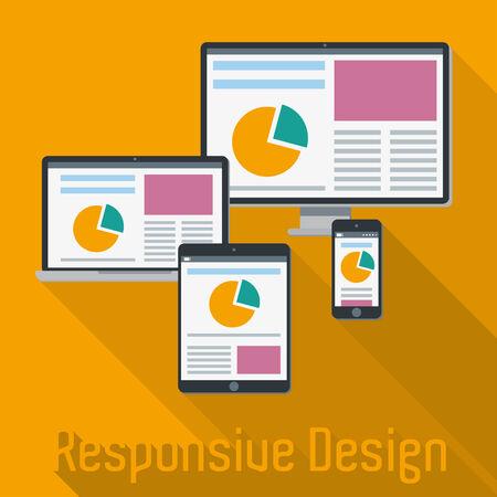 responsive web design: Responsive Web Design Concept