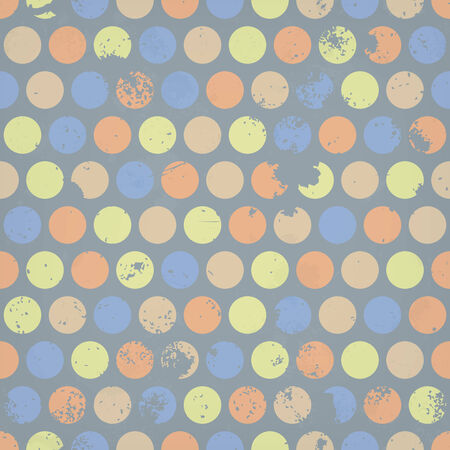 Seamless background with dots and grunge texture Illustration