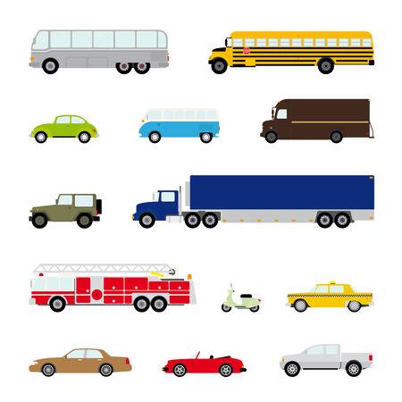 motor coach: Transportation and Automotive Symbol Vector Set