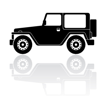 Icono de vector de la silueta del vehículo campo a través
