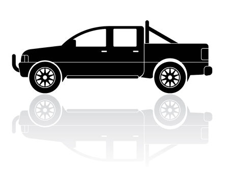 Vector Illustration of modern pickup truck