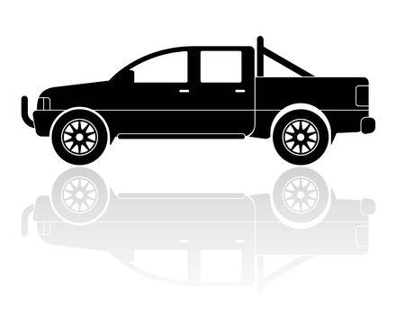 pickup truck: Vector Illustration of modern pickup truck