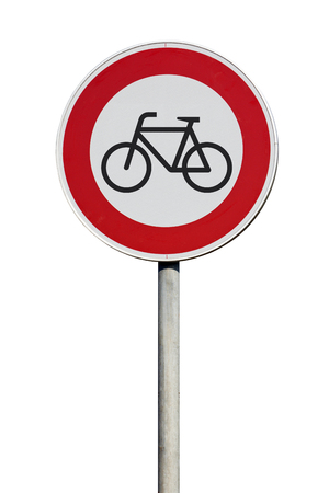 disallowed: No entrance for cyclists traffic sign