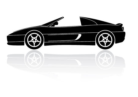 detachable: Italian sports car silhouette vector icon