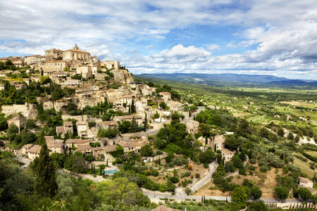 gordes: Gordes, medieval town on a hill at the provence