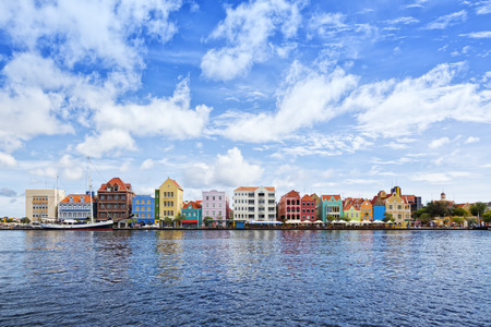 historic: Historic houses with colorful facades at waterfront of Willemstad, Cura?ao