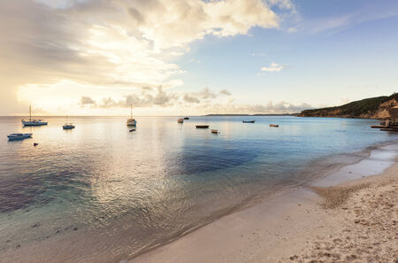 Fishing boats in the bay of Sint Michiel, Curacao