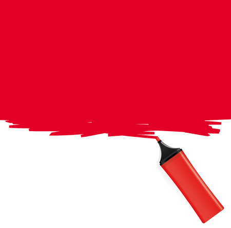 highlighter: Red highlighter coloring the background
