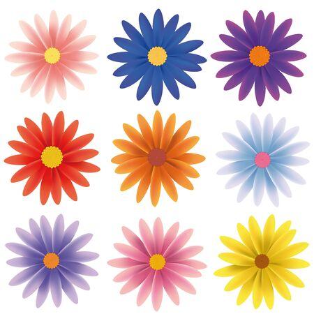 p�querette: Isol� vectorielle Flower Collection Illustration
