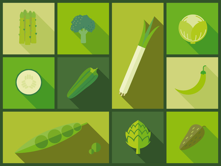 green vegetable: Green vegetable icons vector illustration