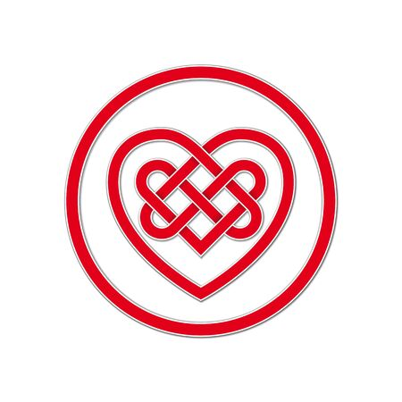 ケルト族の結び目の永遠の愛のシンボル