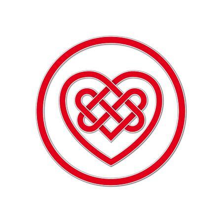 켈트 매듭 영원한 사랑의 상징 일러스트