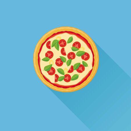 crusty: Pizza Flat Design Vector Illustration
