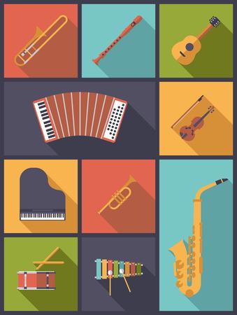 instruments: Musical Instruments Icons Vector Illustration Illustration