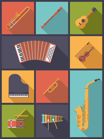 Musical Instruments Icons Vector Illustration Illustration