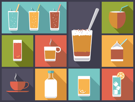 softdrink: Non-alcoholic drinks vector illustration