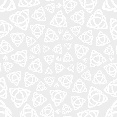 trinity: Seamless background pattern with celtic trinity knot symbol