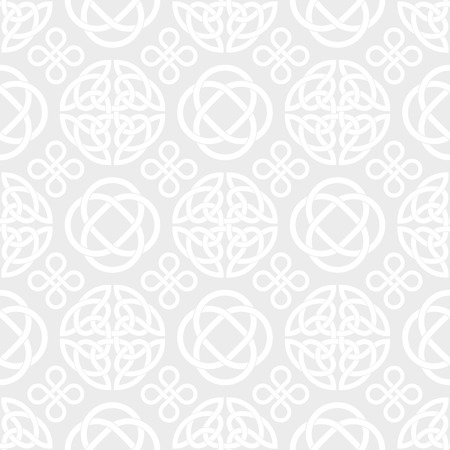 Seamless vector pattern with celtic knot symbols
