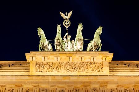 quadriga: The Quadriga on Brandenburger Tor Monument, Berlin