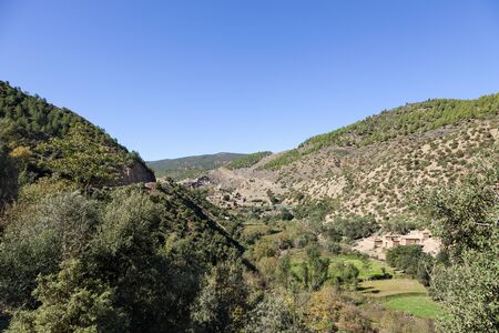 atlas: Berber villages at Ourika Valley, Atlas Mountain Range, Morocco