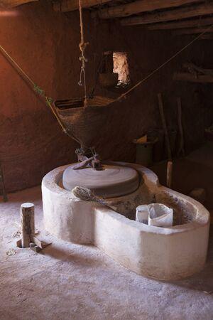 molino de agua: molino de agua tradicional en el pueblo bereber marroqu�