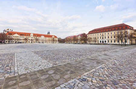 ministry: Domplatz square at Magdeburg with Parliament of Saxony-Anhalt and Ministry of Justice buildings