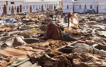 marrakesh: Workers at The Tannery of Marrakesh
