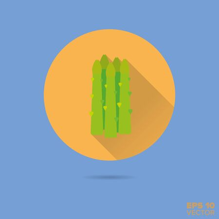 asparagus shoots flat design vector icon Illustration