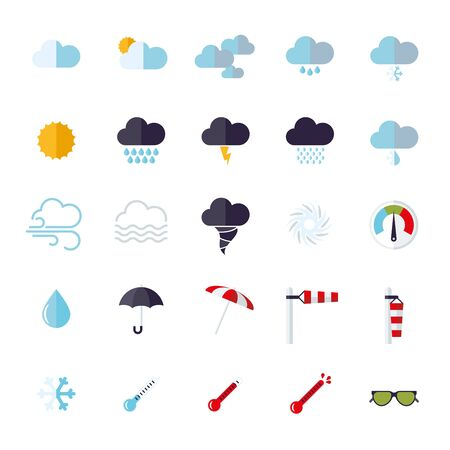 heatwave: Weather and climate related flat design icons
