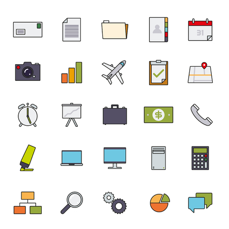 engranes: Business and office related icons filled line