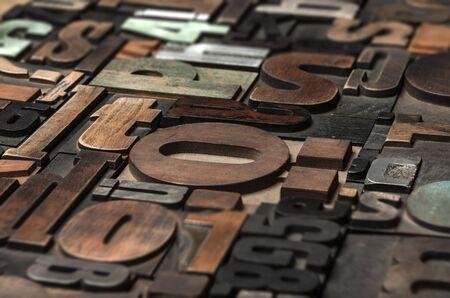 printing block block: random printing blocks background Stock Photo