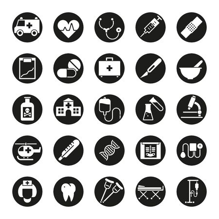 iv drip: Medical and healthcare glyph vector icon set