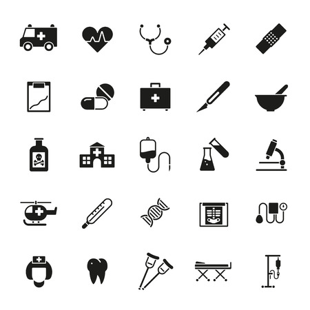 pressure bottle: Medical and healthcare related glyph icons collection