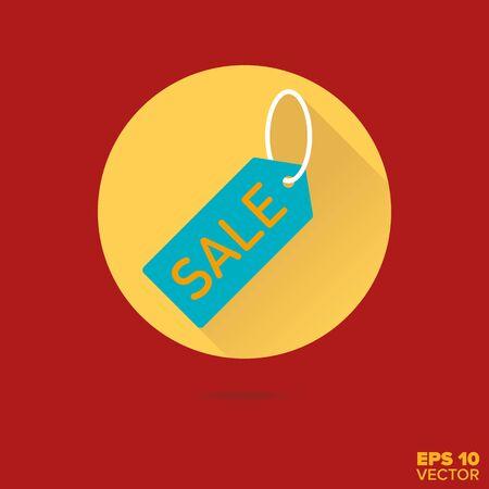 rebates: sale price tag flat design vector icon Illustration
