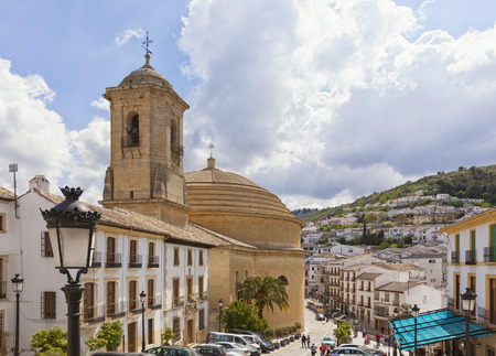 incarnation: Monefrio, Spain - April 30, 2016: Iglesia de la Encarnacion or Incarnation Church is the only round church in Spain. It was founded in 1782 and inaugurated in 1802. Editorial