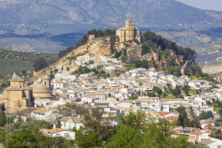 moorish: Village of Montefrio with moorish fortress on the hill