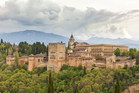 granada: Alhambra palace, Granada, Sapin