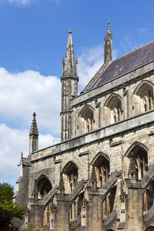 winchester: Winchester Cathedral, Hampshire, England. View from the south. Stock Photo