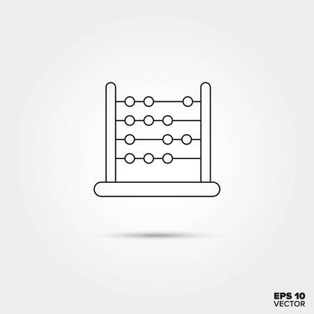 abaco: Abacus juguete l�nea del icono del vector Vectores