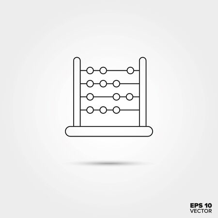 an abacus: Abacus Toy Line Icon Vector