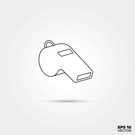 whistle: Referees Whistle Line Icon Vector
