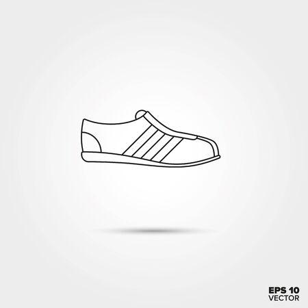 sports shoe: Sports Shoe Line Icon Vector